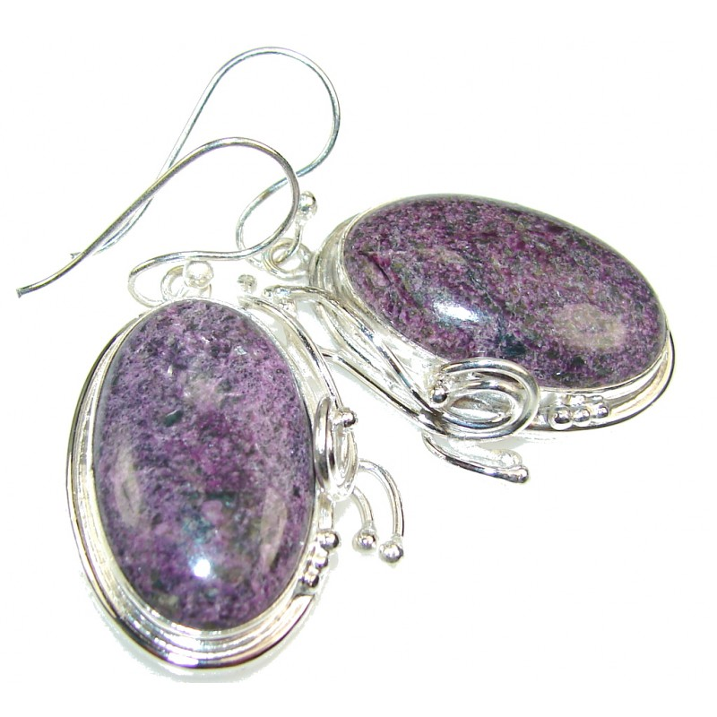 Perfect Purple Sugalite Sterling Silver earrings