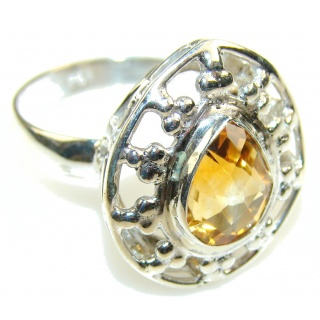 Natural Beauty Citrine Sterling Silver ring s. 8 1/2