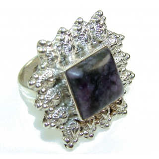 Awesome Purple Charoite Sterling Silver Ring s. 9