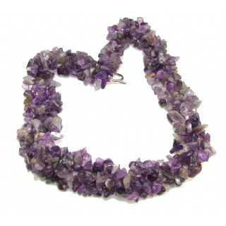 Naturel Purple Amethyst necklace