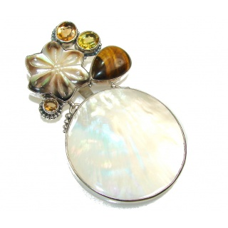 Huge! Amazing Design Of Blister Pearl Sterling Silver pendant