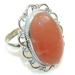 Amazing! Brown Calcite Sterling Silver ring s. 9