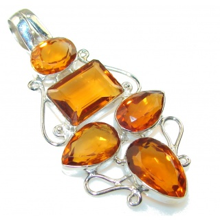 Amazing Honey Topaz Sterling Silver Pendant