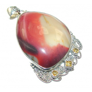 Secret Of Mookaite Sterling Silver Pendant