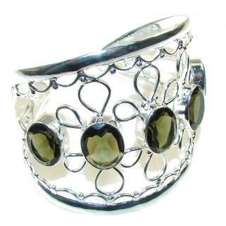 Natural Beauty!! Smoky Topaz Sterling Silver Bracelet / Cuff