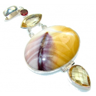 Big! Secret Australian Mookaite Sterling Silver Pendant
