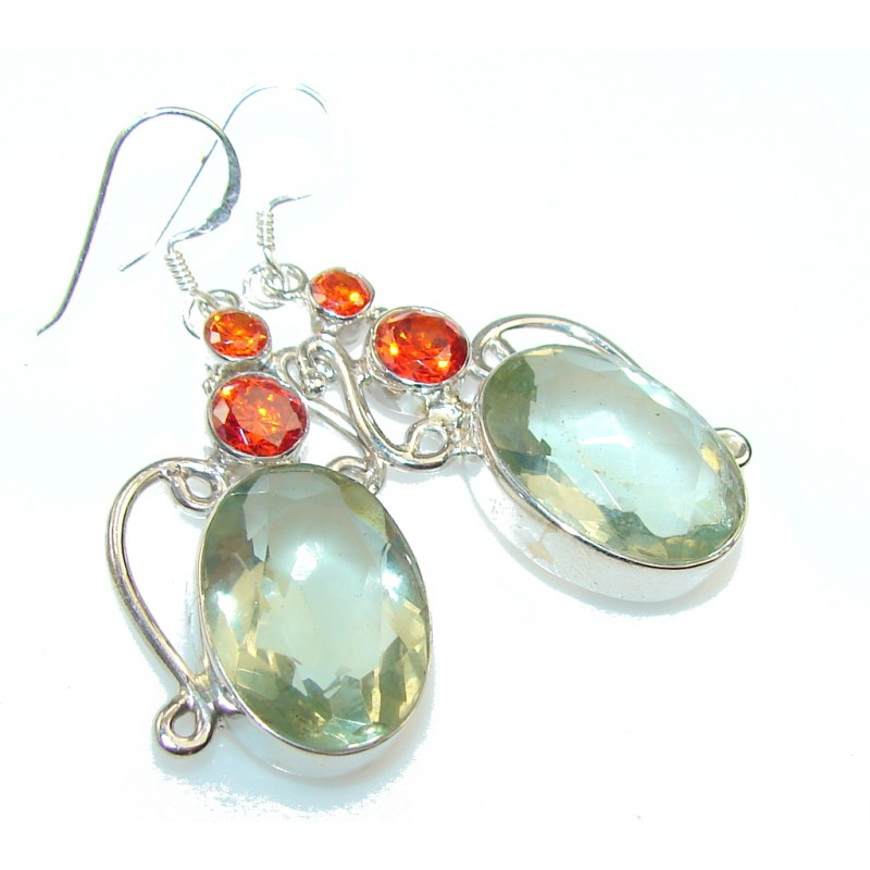 Awesome Color Quartz Sterling Silver earrings