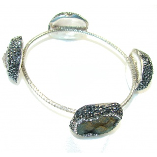 Awesome Turkish Design!! Druzy Sterling Silver Bracelet