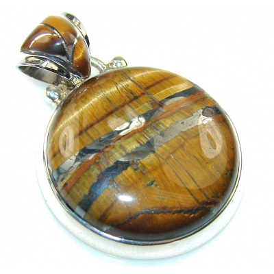 Awesome Golden Tigers Eye Sterling Silver Pendant