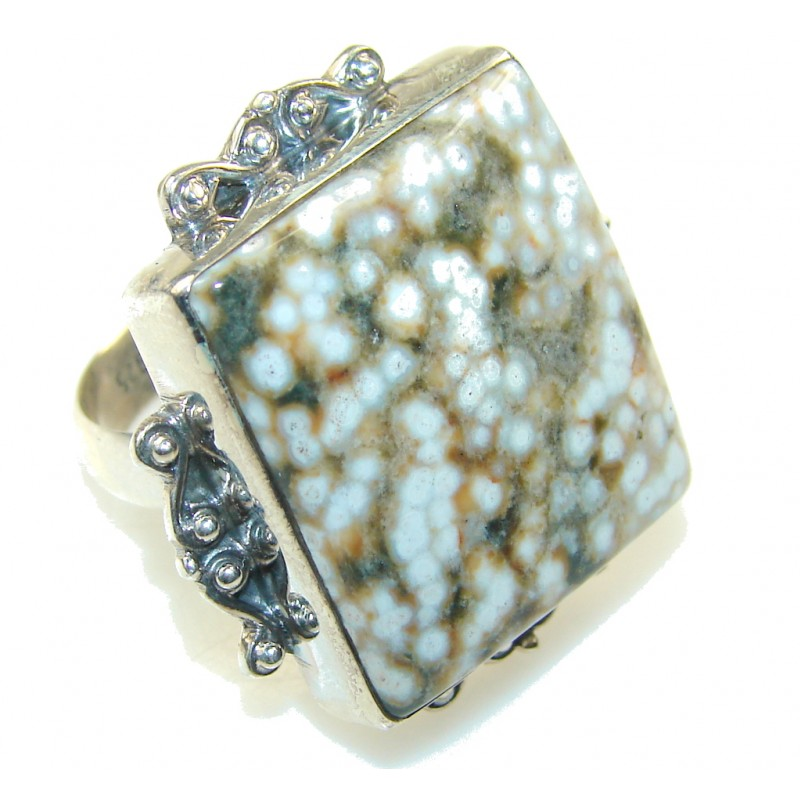 EverGreen Ocean Jasper Sterling Silver Ring s. 11