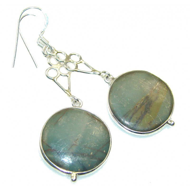 Classy Style Of Picasso Jasper Sterling Silver earrings