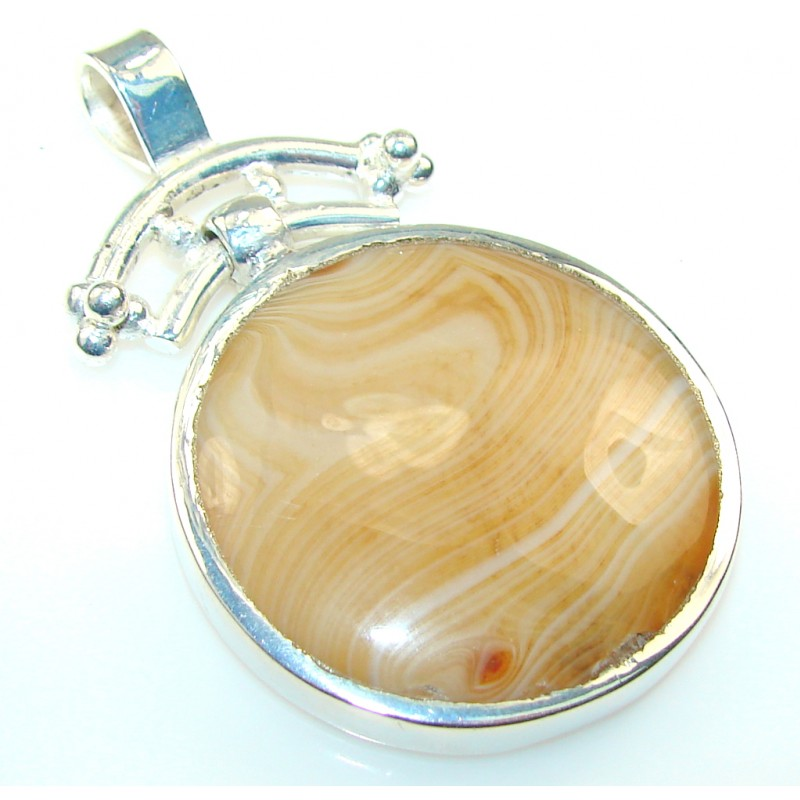 Excellent Agate Silver Plated pendant