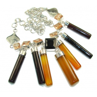 Amazing New Design Of Agate Sterling Silver necklace