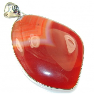Secret Brown Agate Sterling Silver pendant