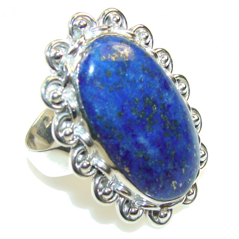 Royal Blue Lapis Lazuli Sterling Silver Ring s. 11
