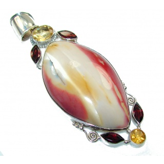Big!! Awesome Australian Mookaite Sterling Silver Pendant