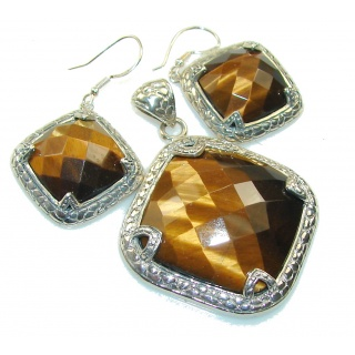Beautiful Brown Tigers Eye Sterling Silver / Set