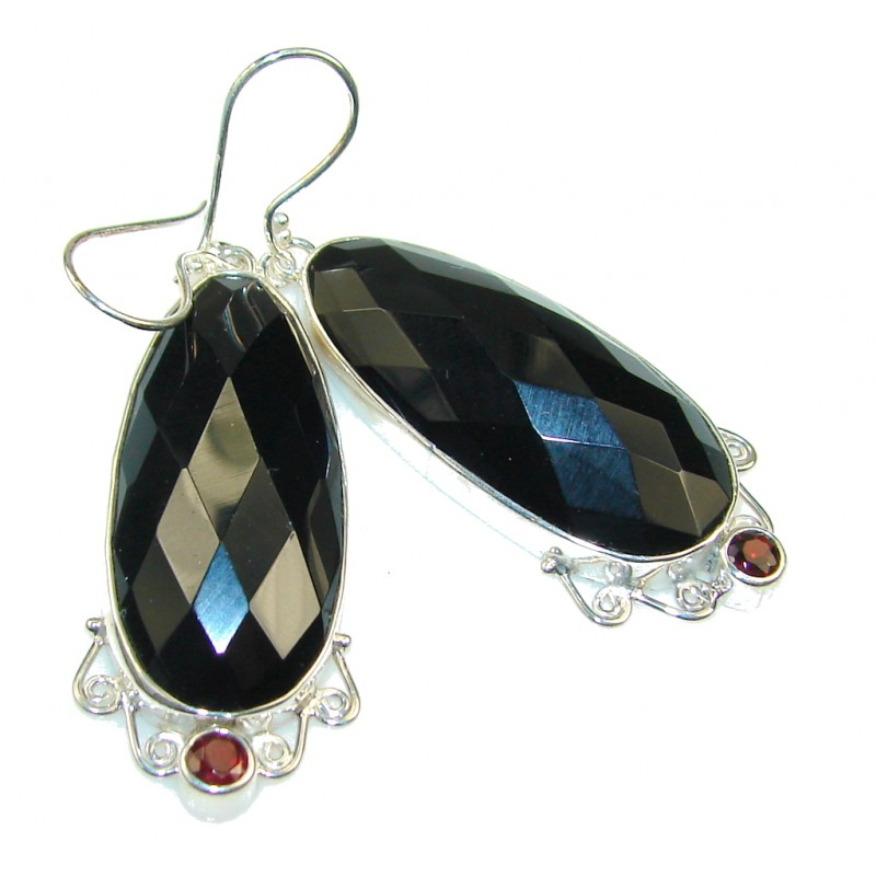 Excellent Black Onyx Sterling Silver earrings