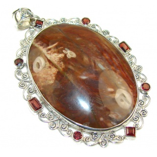 New!! Beautiful Brown Pietersite Sterling Silver pendant