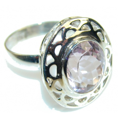 Very Light Purple Amethyst Sterling Silver ring s. 8