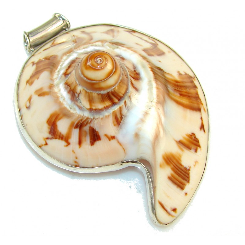Big!! Amazing Design Of Ocean Shell Sterling Silver Pendant