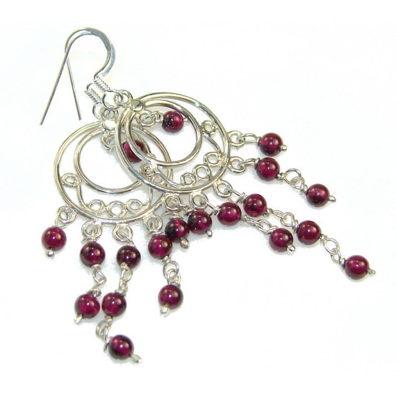 New DEsign!! Pink Tourmaline Sterling Silver earrings
