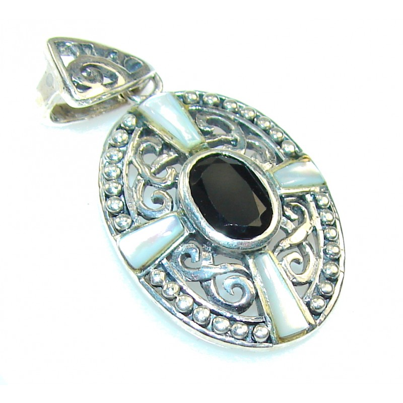 Awesome Silver Hematite Sterling Silver Pendant