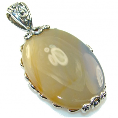 Amazing Design!! Agate Sterling Silver pendant