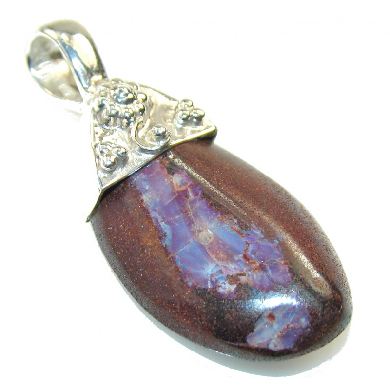 Classy!! Boulder Opal Sterling Silver Pendant