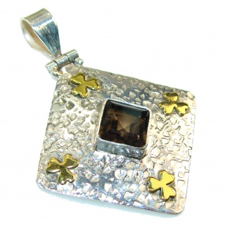 Secret Brown Smoky Topaz Sterling Silver Pendant