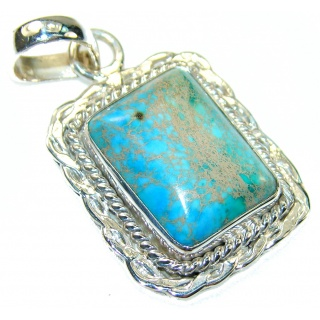 Blue Sea Sediment Jasper Sterling Silver Pendant