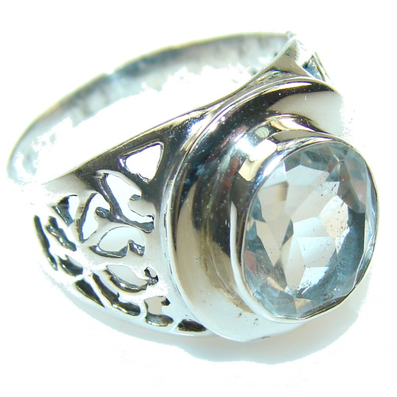 White Heat!! White Topaz Sterling Silver ring s. 9 1/2