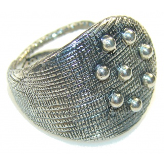 New Style!! Oxidized Silver Sterling Silver Ring s. 10 1/4
