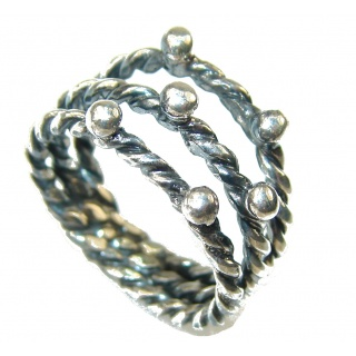 New Style!! Oxidized Silver Sterling Silver Ring s. 8 1/4