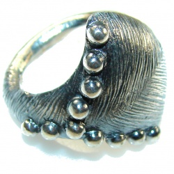 Classy Style!! Oxidized Silver Sterling Silver Ring s. 61/2