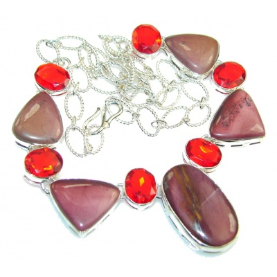 Fabulous Quality Of Mookaite Sterling Silver necklace