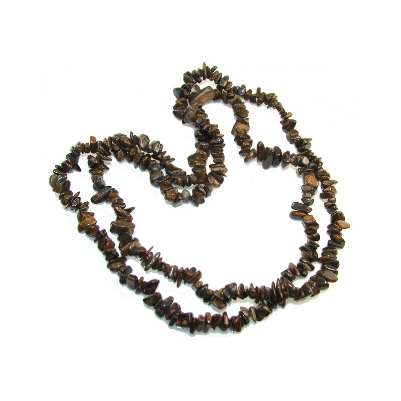 Rare Unusual Natural Bronzite Beads Strand Necklace