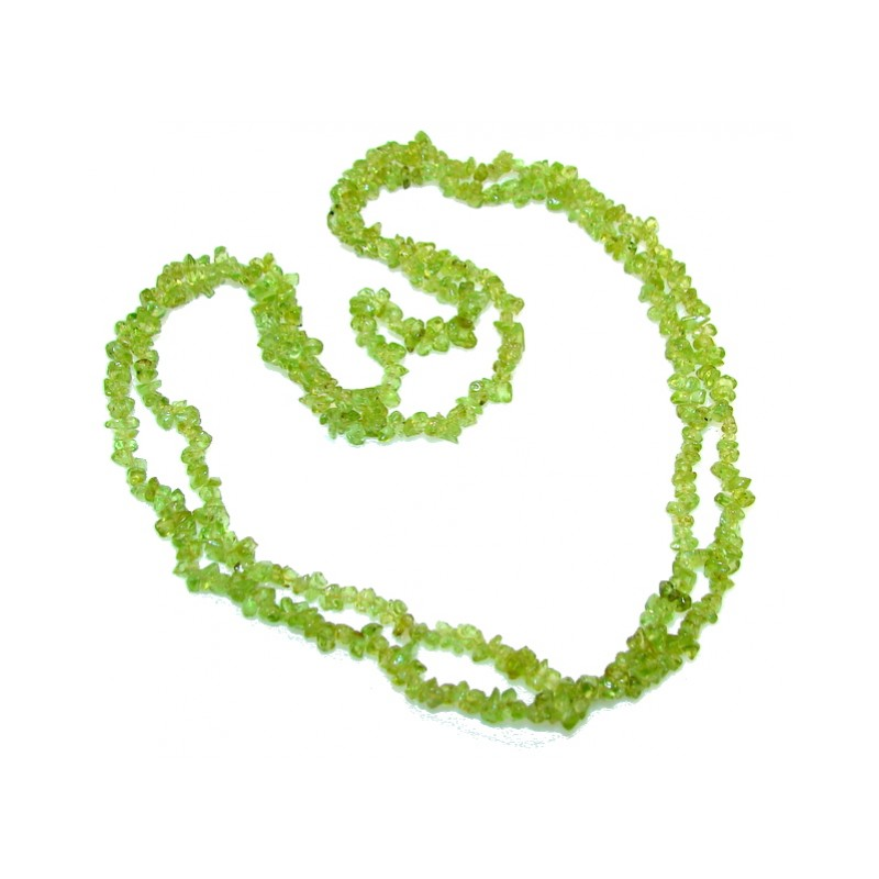 Rare Unusual Natural Peridot Beads Strand Necklace