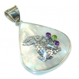 Great Blister Pearl Sterling Silver pendant