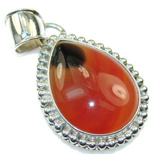 New Design Of Brown Agate Sterling Silver Pendant