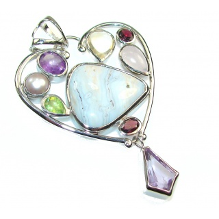 New Amazing Design Of Ocean Jasper Sterling Silver Pendant