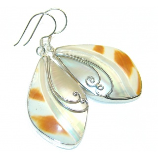 Amazing Style! Ocean Shell Sterling Silver earrings