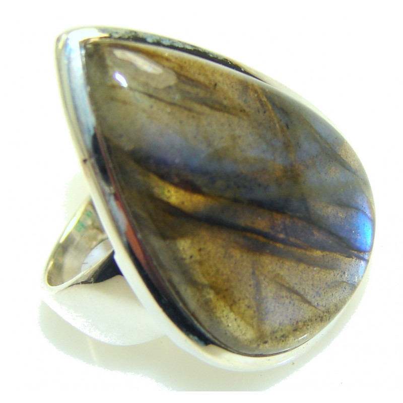 Blue Dreamer! Labradorite Sterling Silver ring s. 7 1/4