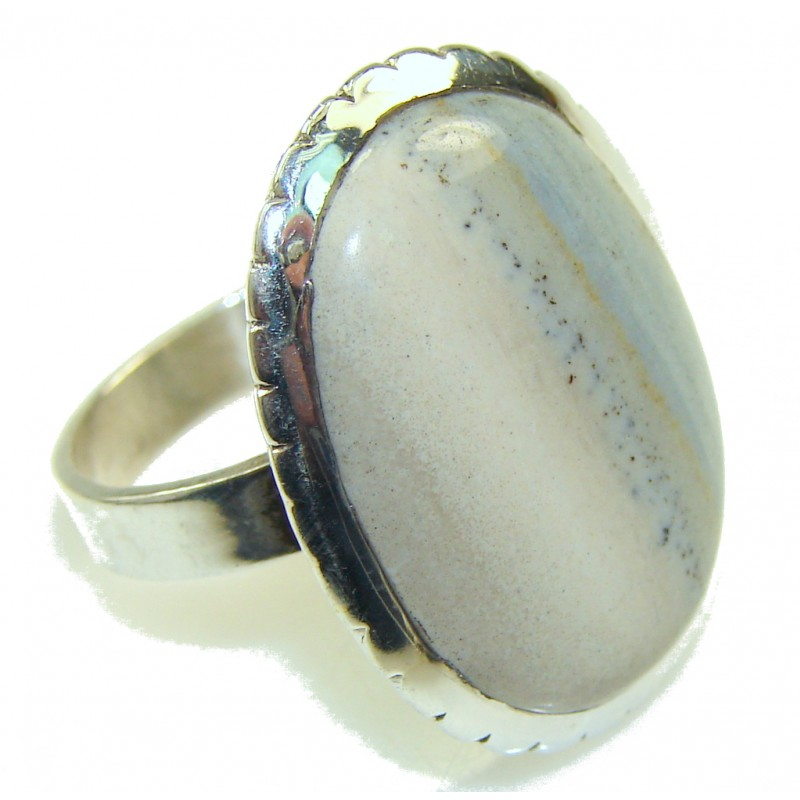 New! Imperial Jasper Sterling Silver Ring s. 9