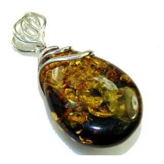 Back to Nature Baltic Amber Sterling Silver Pendant