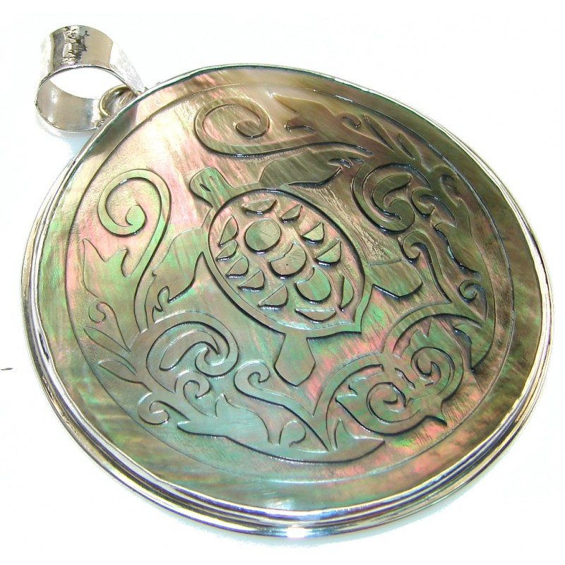 Secret Dynasty Rainbow Abalone Sterling Silver Pendant