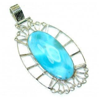 Dominican Treasure Blue Larimar Sterling Silver Pendant