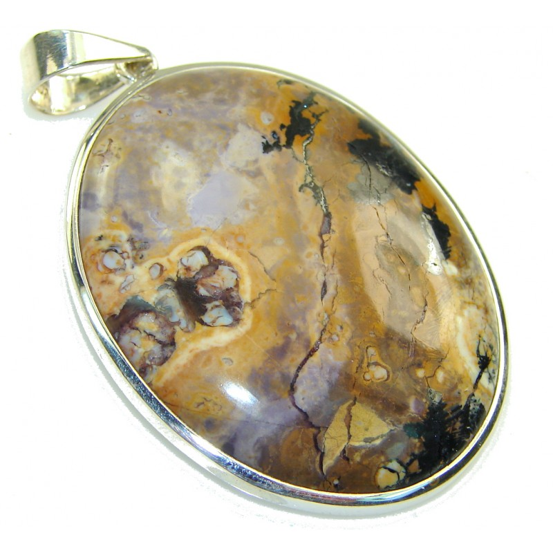 New Bertrandite Sterling Silver Pendant