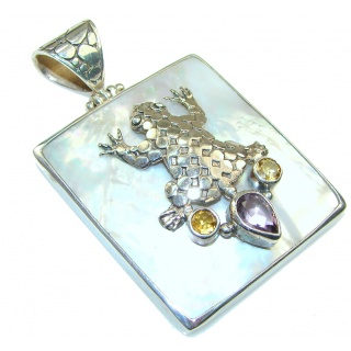 Kissed Moon!! Blister Pearl Sterling Silver pendant