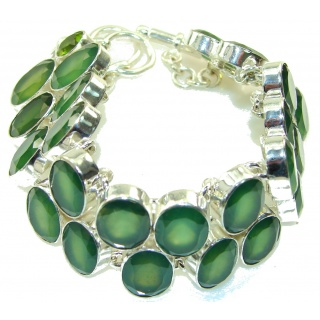 Green Secret!!! Aventurine Sterling Silver Bracelet